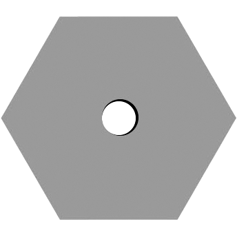 Hexagon Center Hole